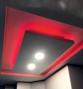 Controsoffitto in cartongesso con LED